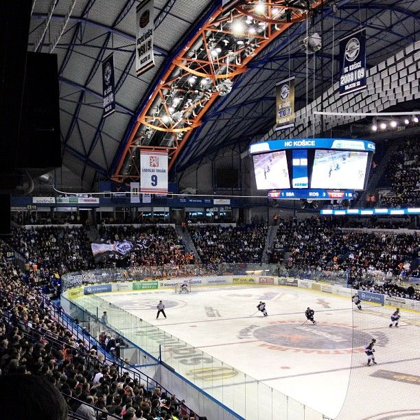 Steel Arena In Kosice Slovakia Hockey Match Hockey Arena Hockey Ice Hockey