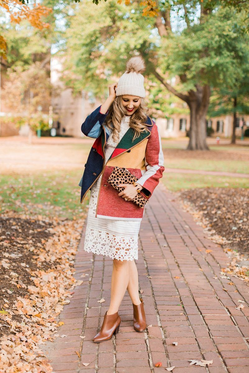 How to style your summer dress into a fall outfit fall fashion