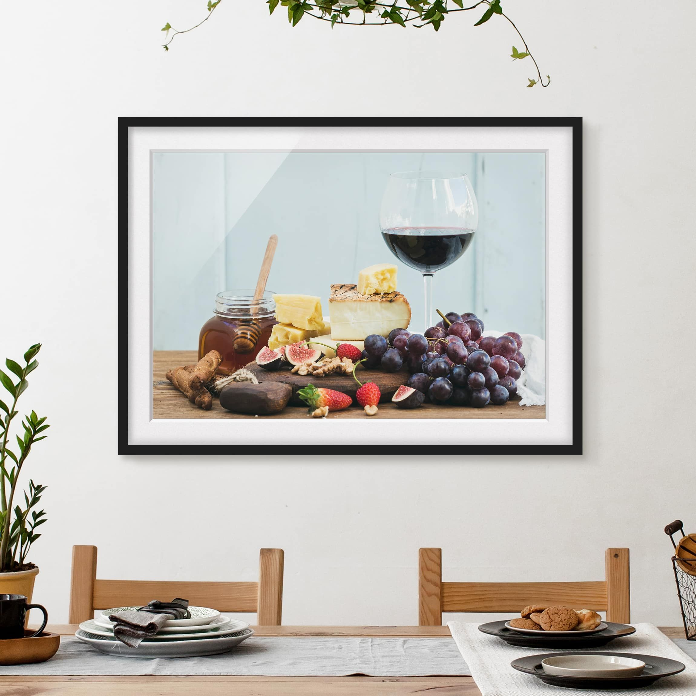 Poster con cornice - Cheese And Wine - Orizzontale 3:4 ...