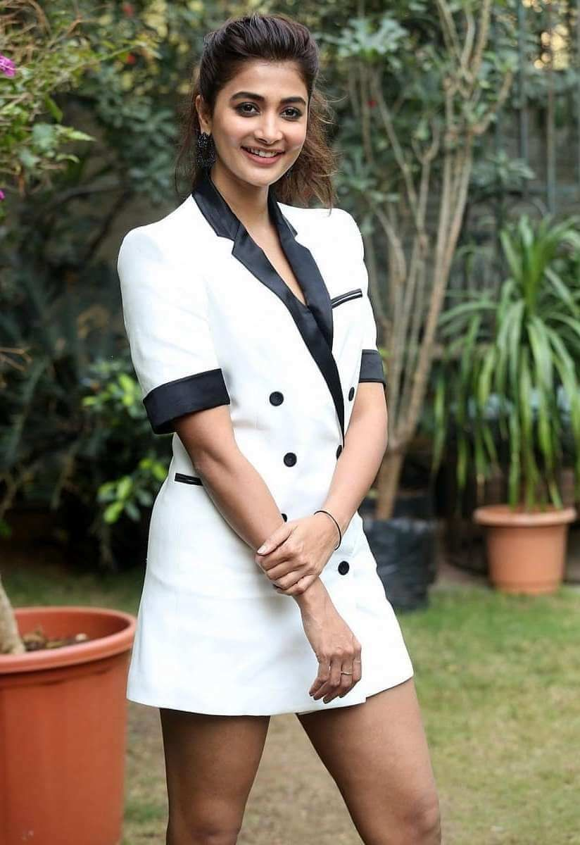 Pooja Hegde At Movie Interview Of Ala Vaikuntapuram Lo In 2020 Hot White Dresses Actresses Indian Film Actress
