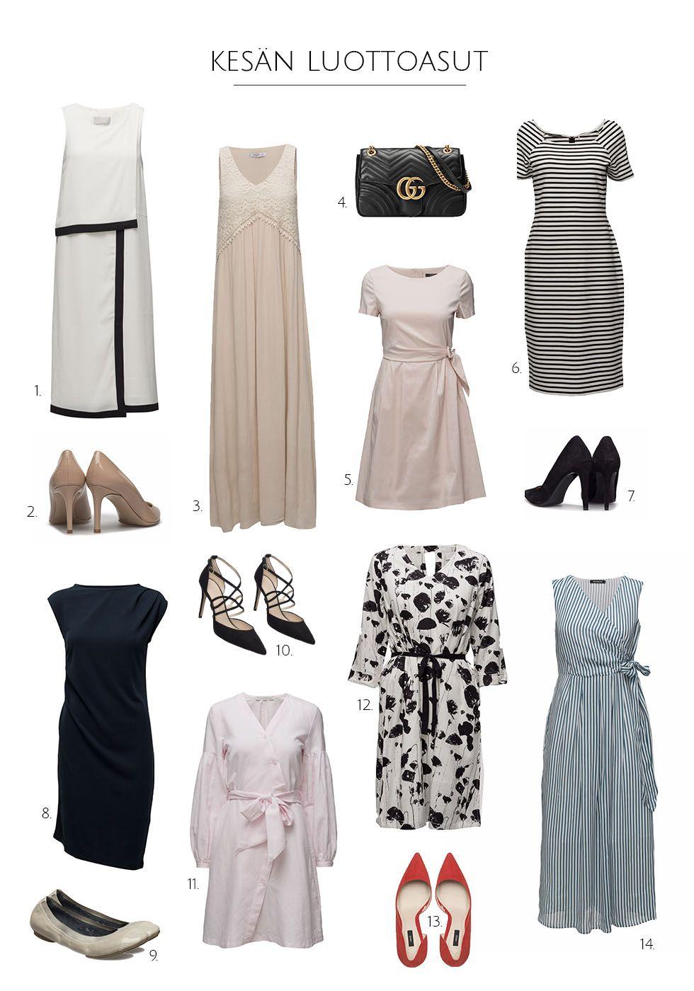 Ajattomia, kauniita korkoja ja ihania naisellisia mekkoja. Niistä on täydelliset kesäasut tehty! :)    http://www.monasdailystyle.com/2017/06/27/kesaalen-poiminnat/