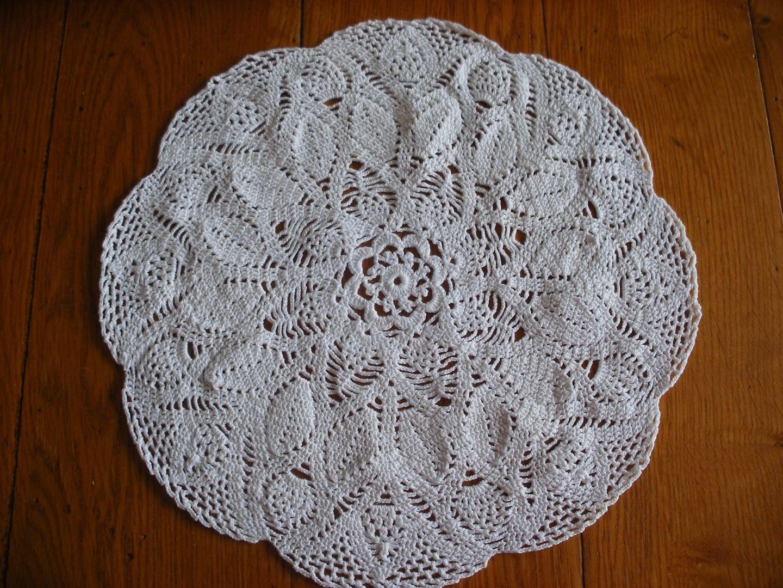 Grand Napperon Au Crochet à crochet motifs   grand napperon au crochet rond - coton