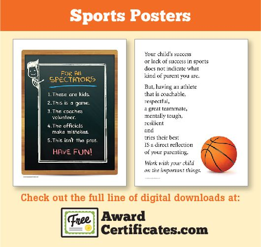 Sports Parents resources: posters, awards, slogans and ...