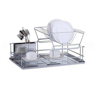 Luxury Stainless Steel Galvanized 2 Tier Dish Drainer