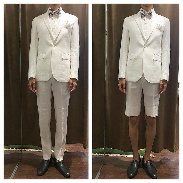 98096398e4ef1 ハーフパンツ新郎衣装   結婚式の新郎衣装に関するお話 カジュアルウェディングまとめ