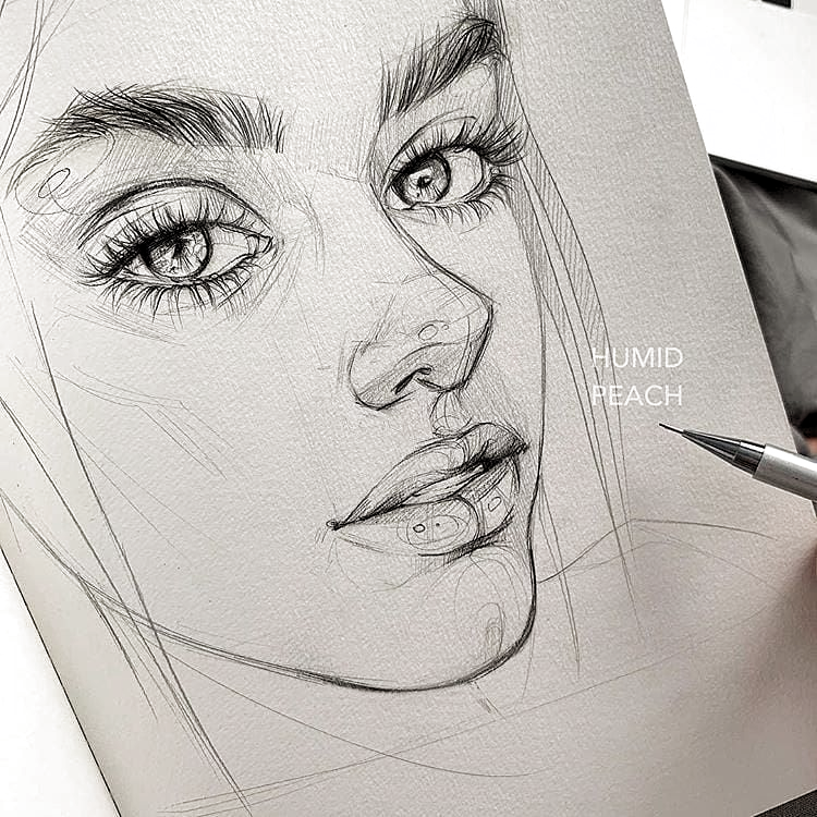 Sunlight Art Gallery On Instagram Magic Artworks To See More Sketches Which One Is The Most Beautiful In 2020 Sketches Portrait Sketches Art Sketchbook