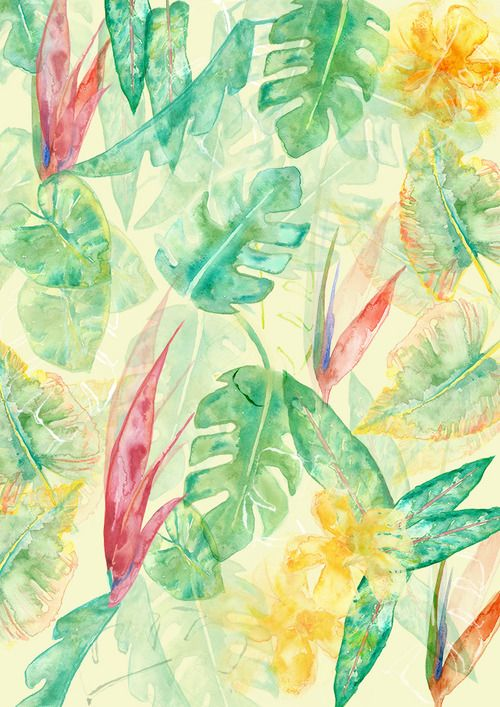 TROPICAL PRINT PATTERN by ainams@