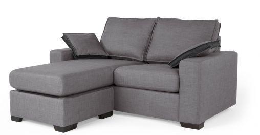 Sofa Mit Hocker Grau
