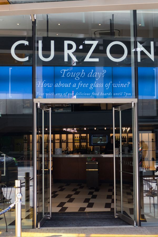 Bespoke digital signage for Curzon Cinema made up of three 55 inch screens. Designed and manufactured by 10 Squared.