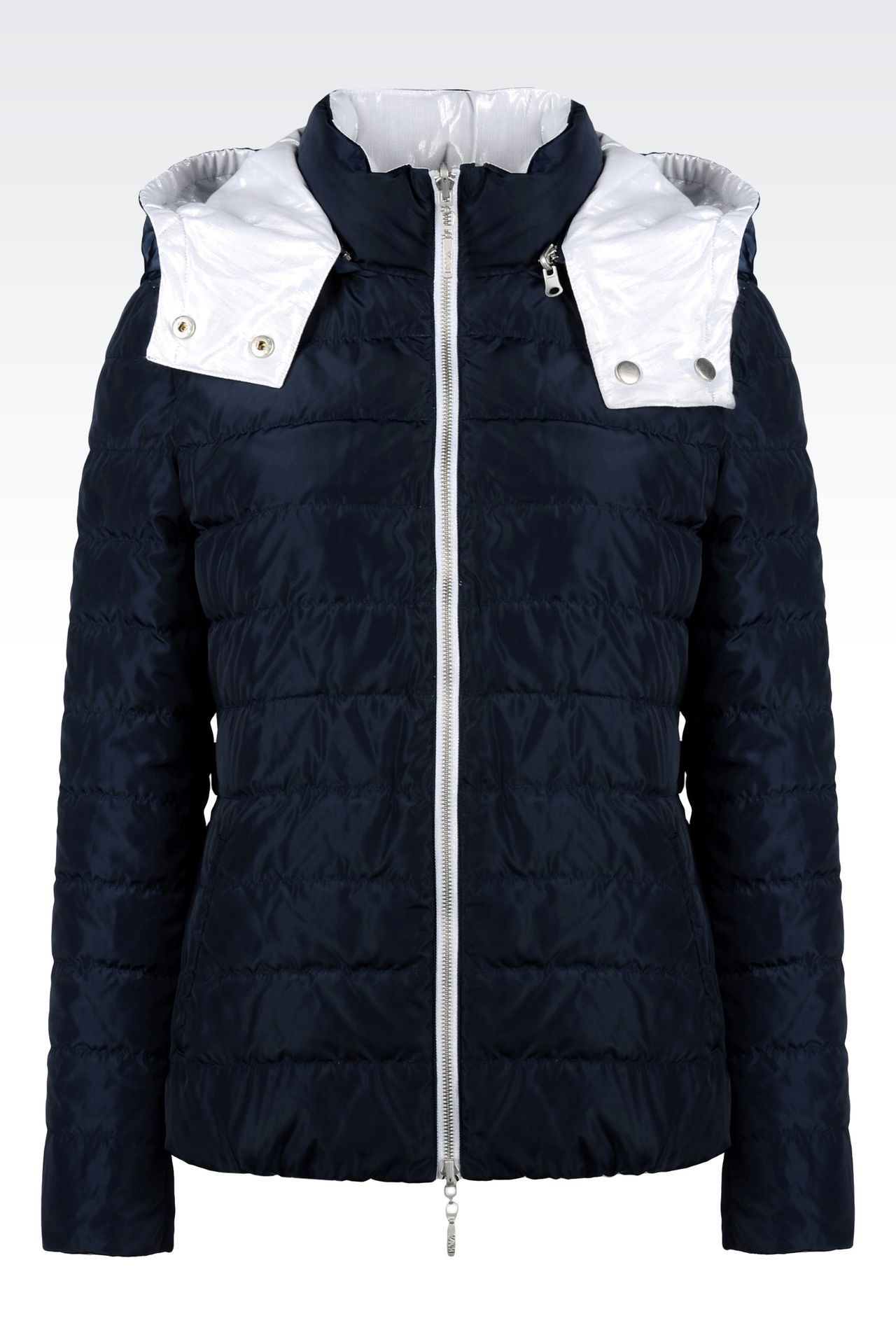 4aefdb59b918 Emporio Armani Women Down Coat - REVERSIBLE HOODED DOWN JACKET Emporio  Armani Official Online Store
