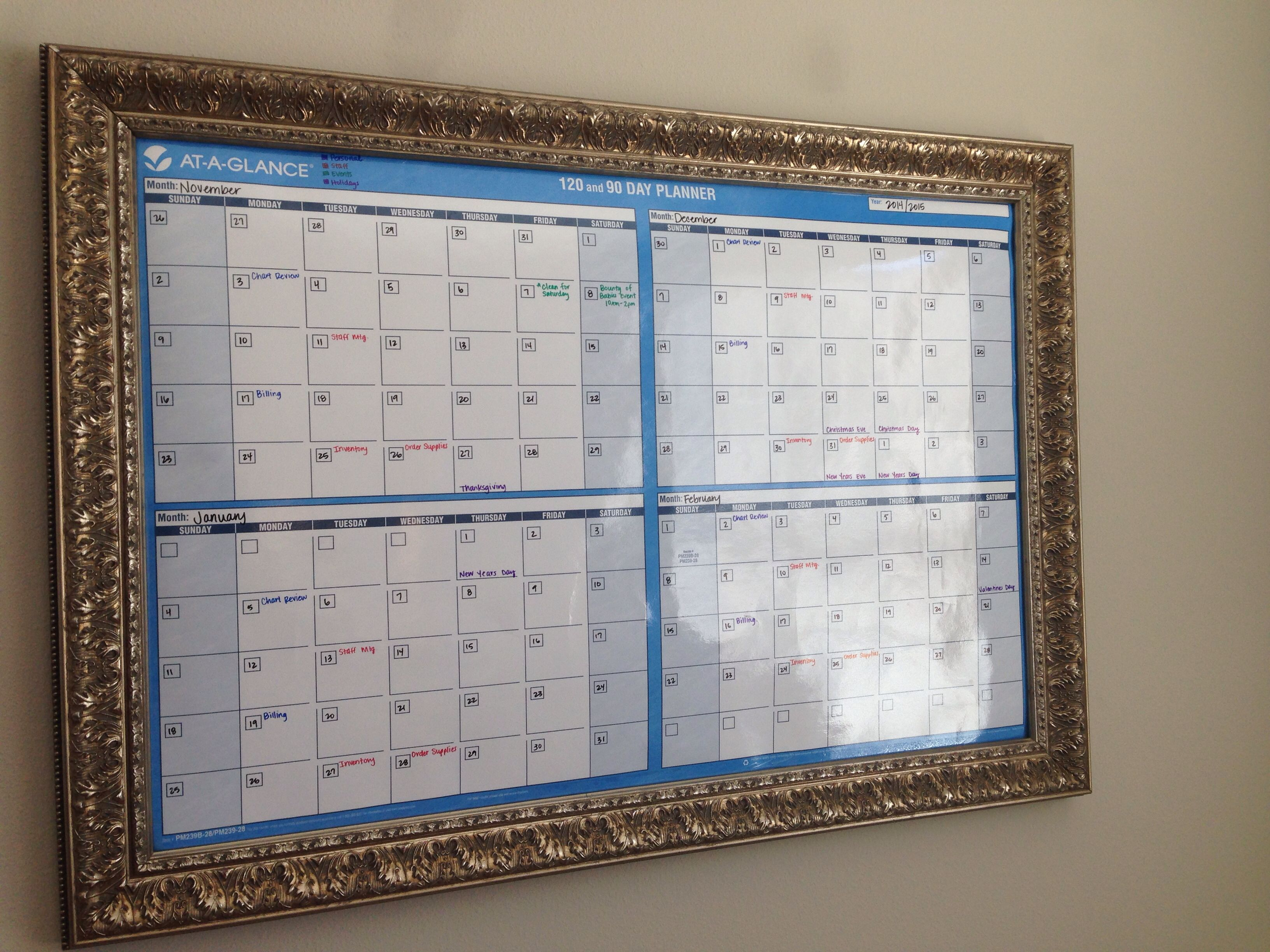 my wife wanted an event calendar on the wall unique she said