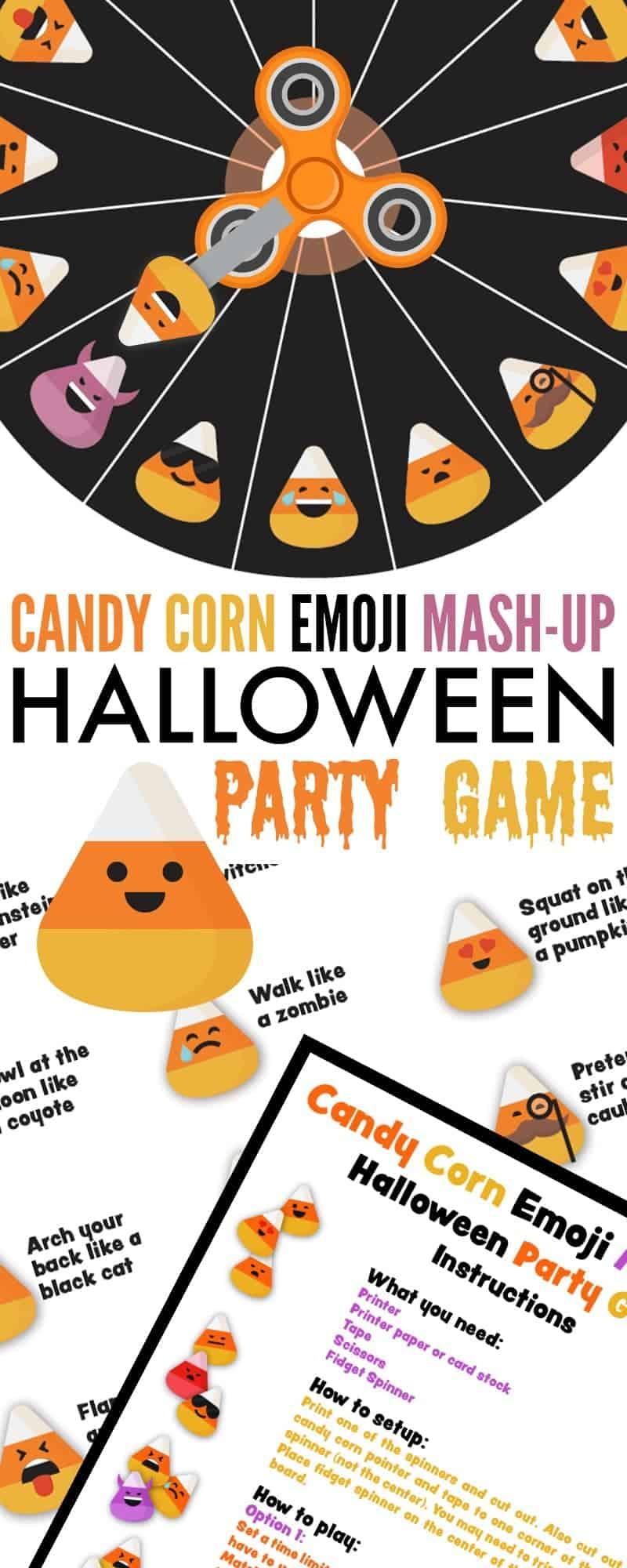 Candy Corn Emoji Mash-Up Halloween Party Game #halloweenpartygamesforkids