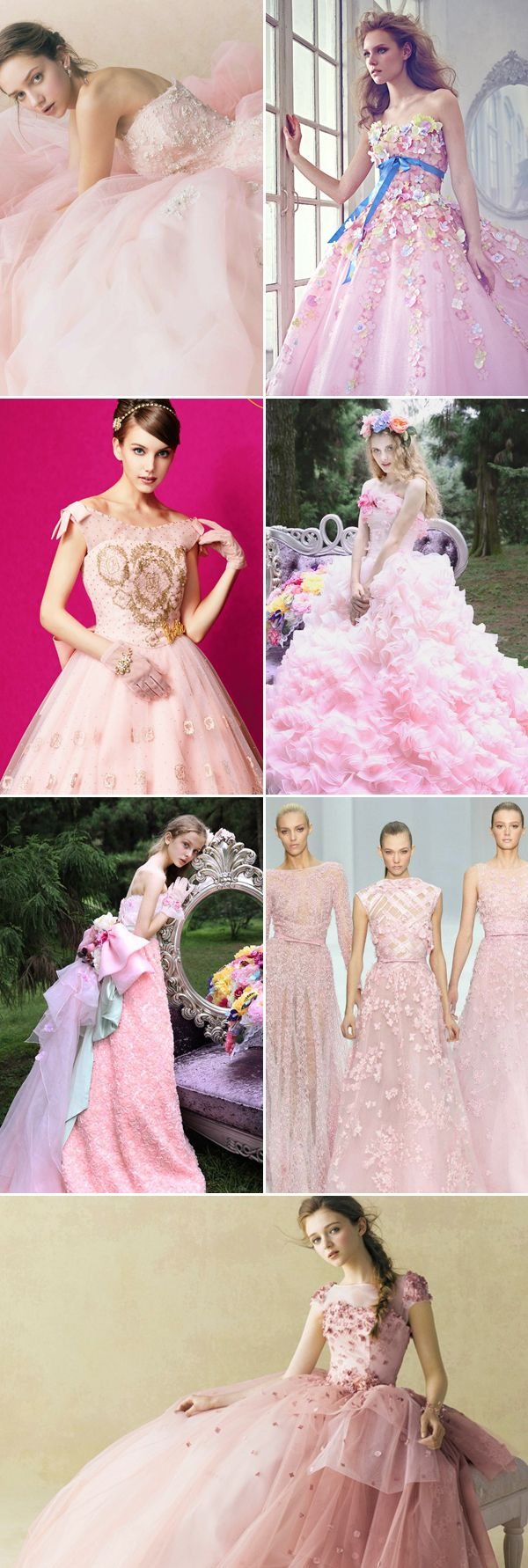 30 Oh-So-Romantic Pastel Wedding Dresses | Flores