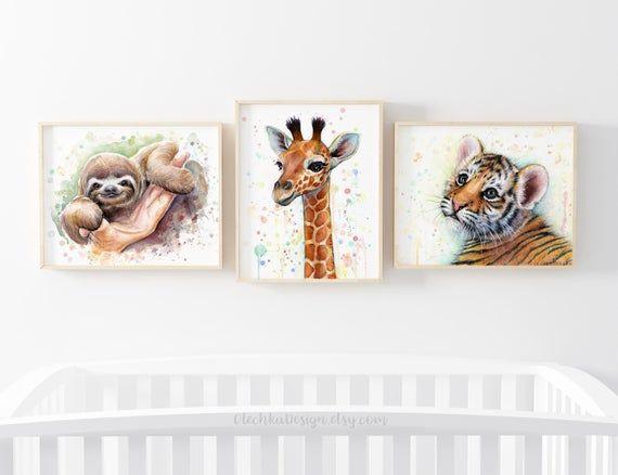 Kinderzimmer Kunst Dekor, Giraffe Kunst, Giraffe Druck