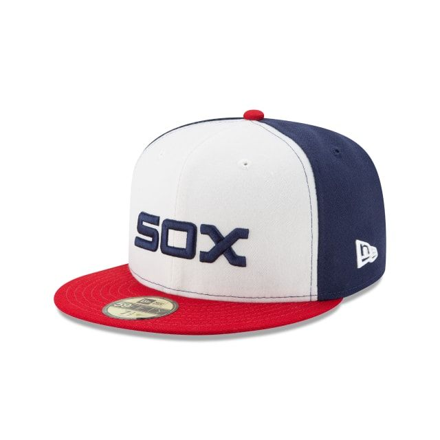f079209b395 CHICAGO WHITE SOX AUTHENTIC COLLECTION 59FIFTY FITTED 3 quarter left view