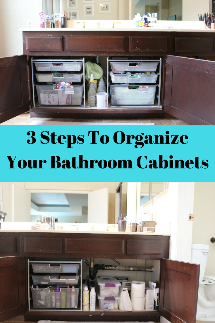 3 Steps How To Organize Your Bathroom   Organizing, Organizations ...
