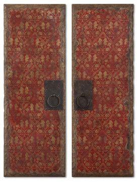 Red Door Panels, Set Of 2 contemporary-artwork $293