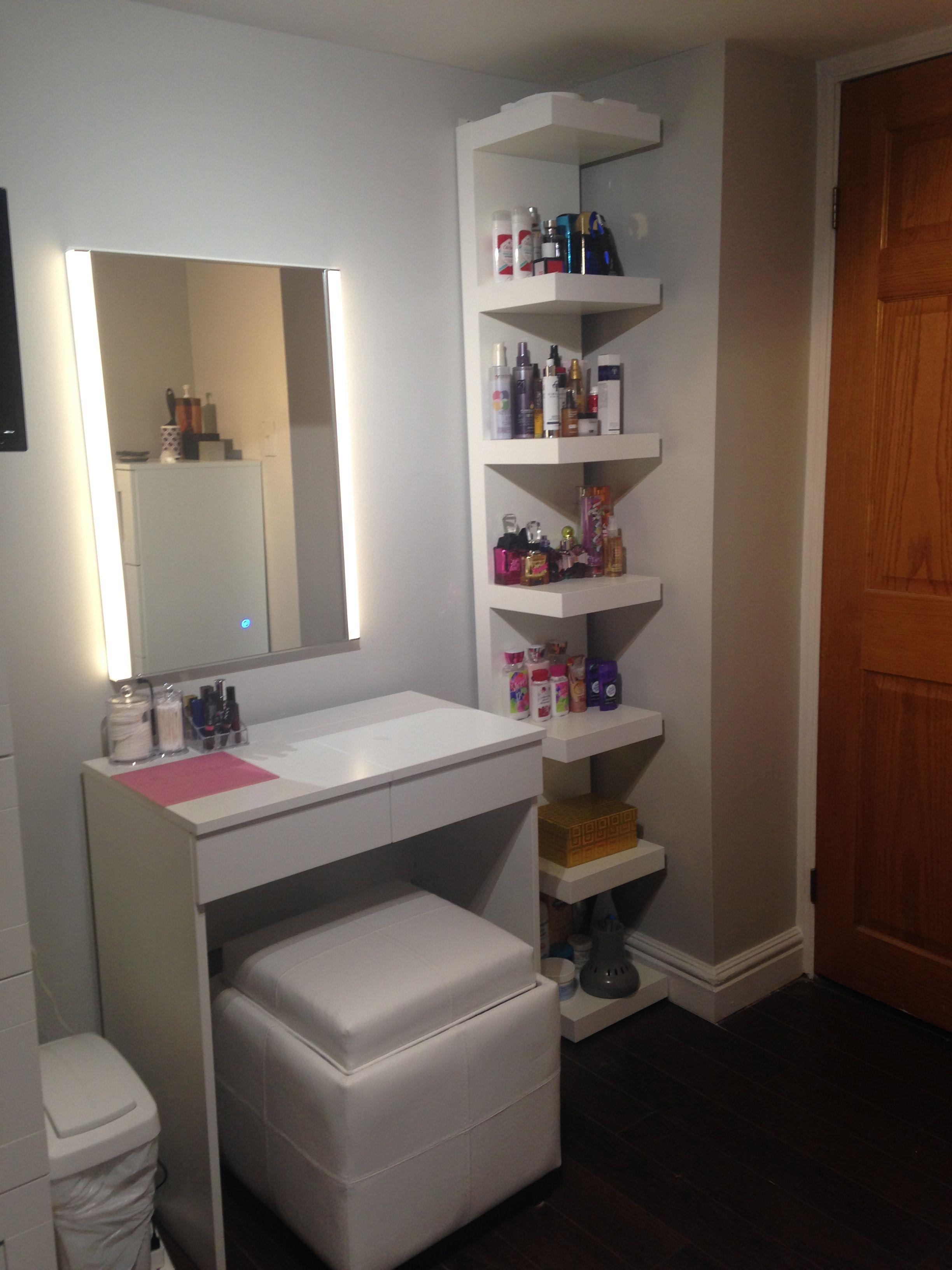Makeup Vanity Ikea Brimnes Dressing Table Ikea Lack Shelf Home