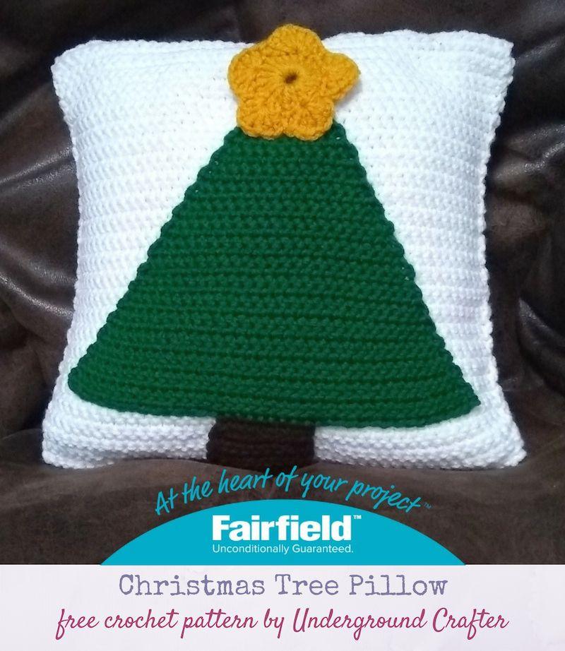 Crochet Pattern Christmas Tree Pillow Crochet Pillow Pattern Christmas Tree Pillow Christmas Crochet