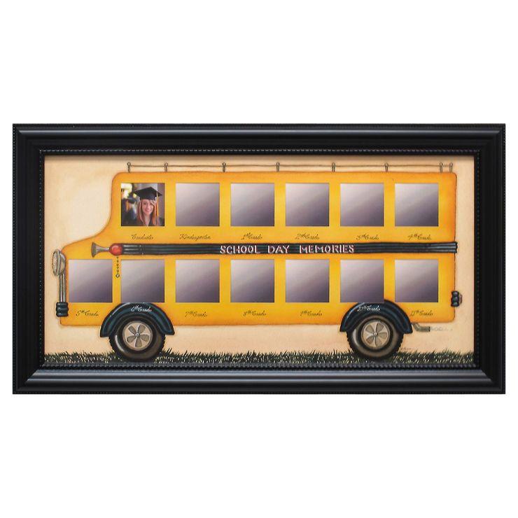 20 X 10 In Die School Days Bus Collage Frame School Days