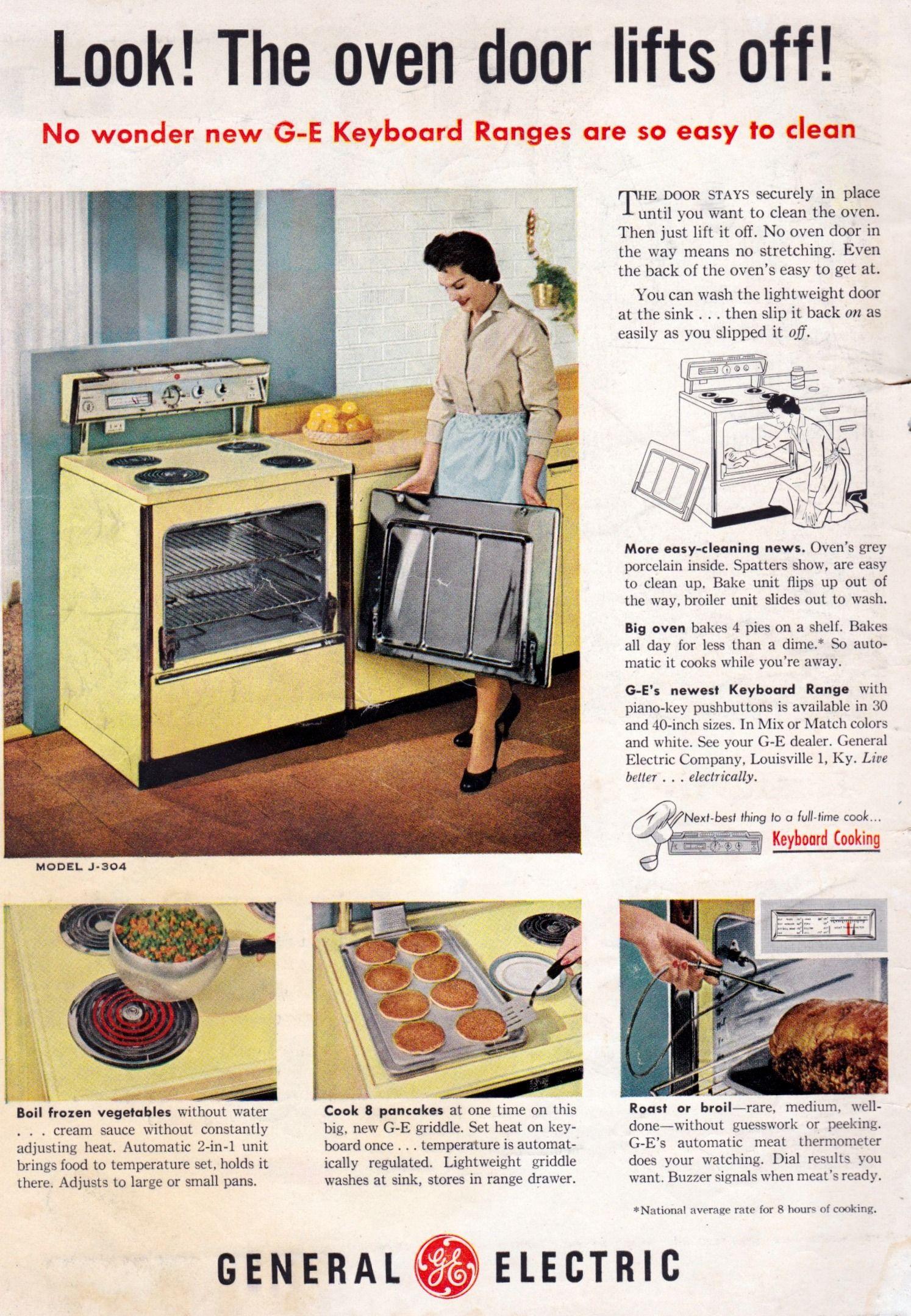 Ge Oven Vintage Appliances Retro Oven Appliances
