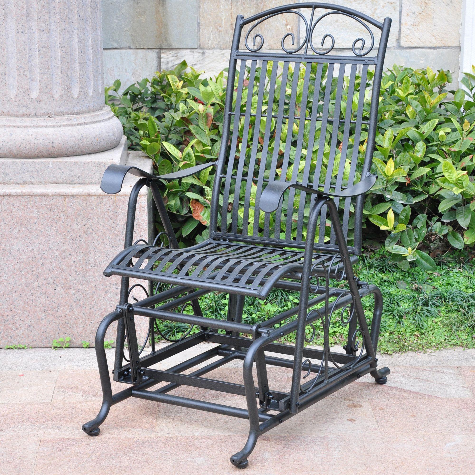 Tropico Iron Single Patio Glider Chair Products