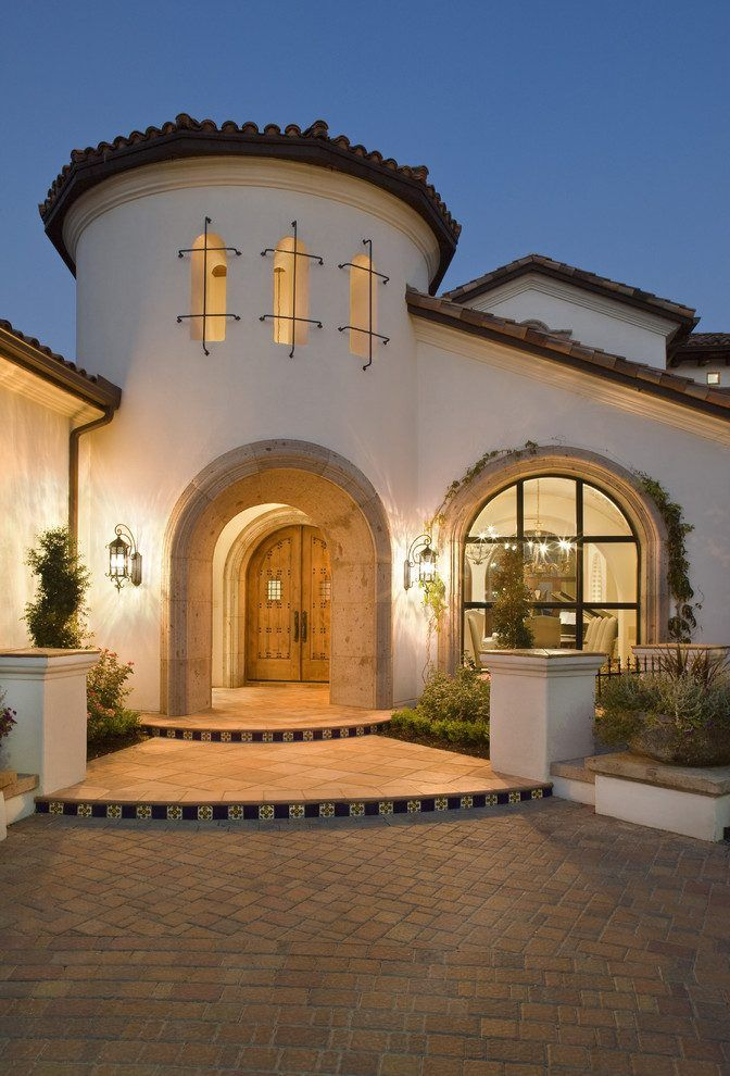 Spanish Colonial Revival Architecture Exterior Mediterranean With Rotunda Traditional Gates