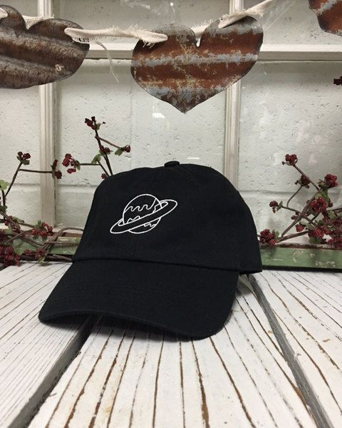 PLANET Baseball Hat Low Profile Embroidered Baseball Caps Dad Hats Black 29cdd50acd78