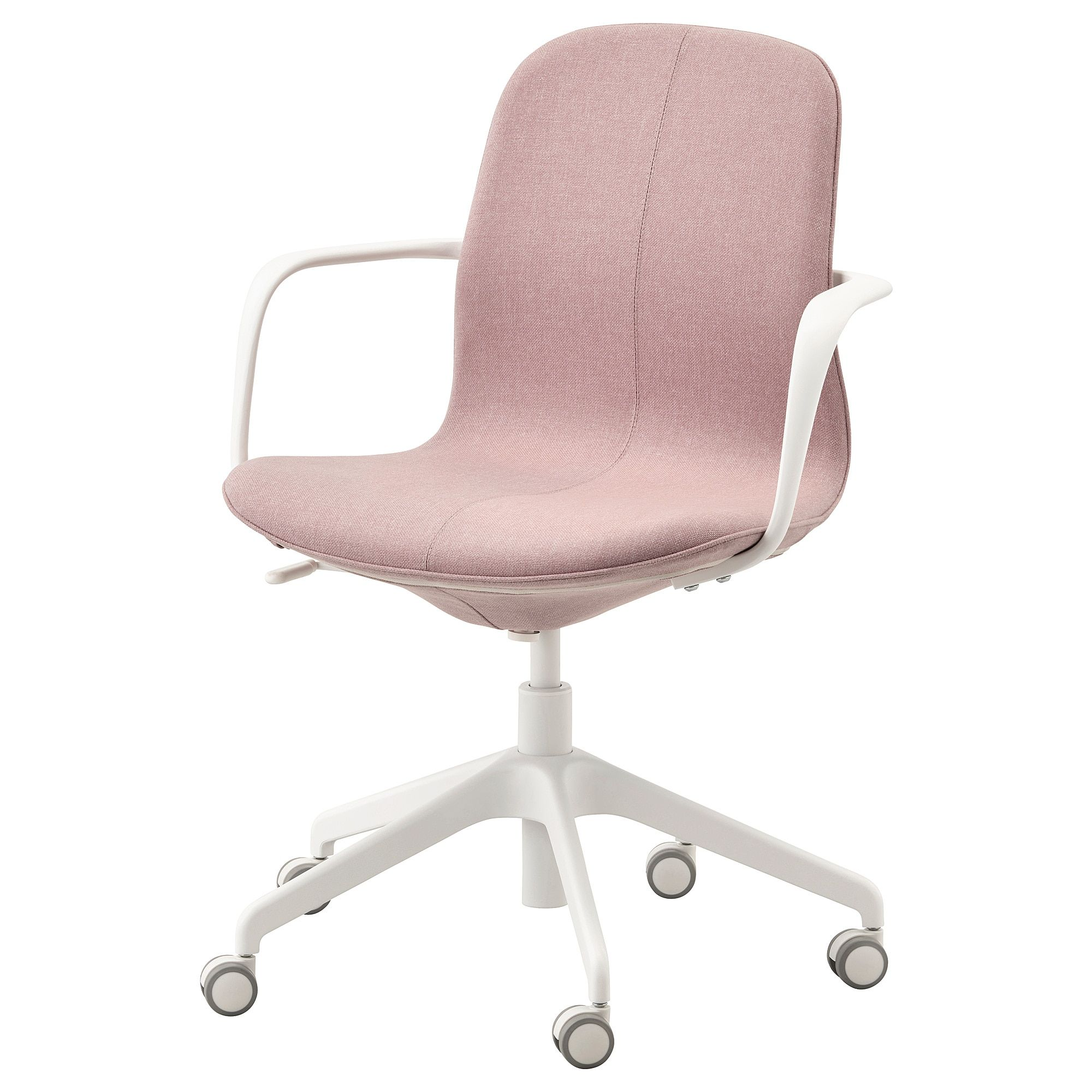 Ikea Langfjall Gunnared Light Brown Pink White Office Chair With