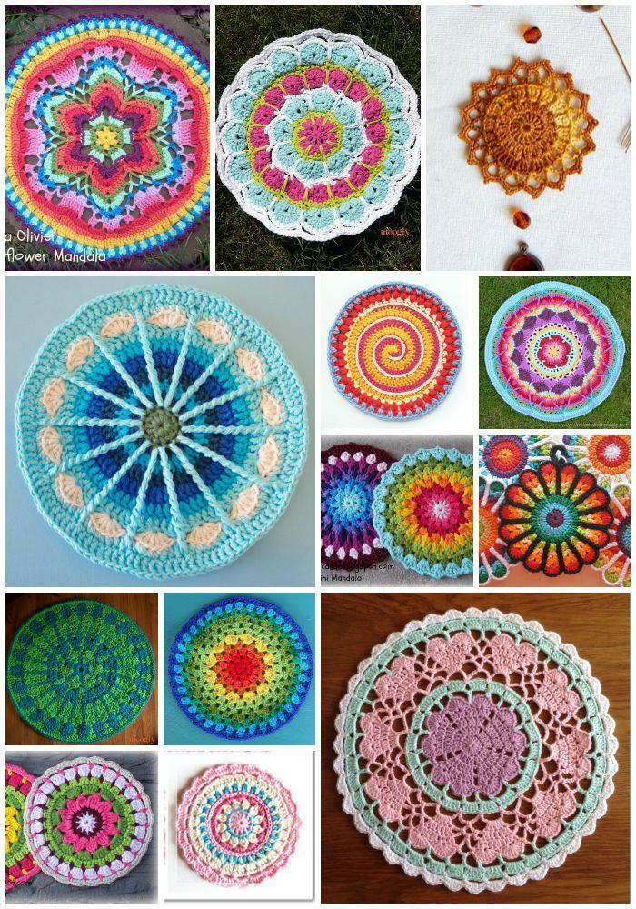 Contemporáneo Los Patrones De Crochet Libre Mandala Foto - Manta de ...