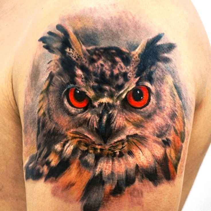 50 Of The Most Beautiful Owl Tattoo Designs And Their: Realistic Owl Tattoo - Owl Tattoos …