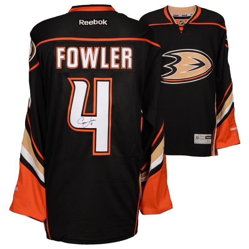 sports shoes 6f34f 99ec9 Cam Fowler Anaheim Ducks Fanatics Authentic Autographed Black Reebok  Premier Jersey
