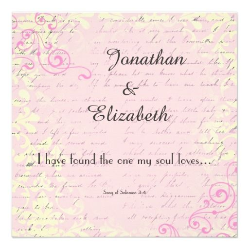 Best Bible Verse For Wedding Invitation: Vintage Romance With Bible Verse Wedding Personalized