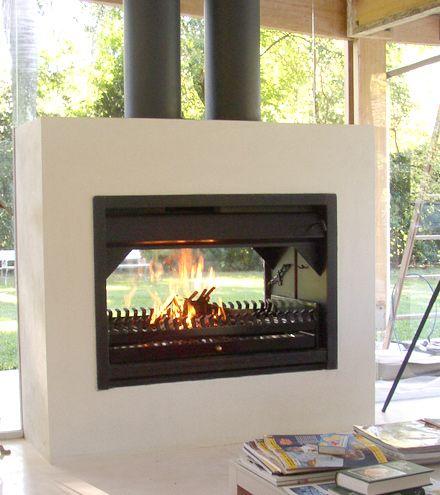 Hogares a le a la vaca tuerta fuegos y fogones for Hogares modernos a gas