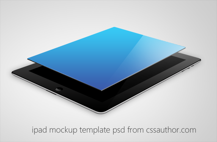 beautiful ipad mockup template psd for free download - cssauthor, Powerpoint templates