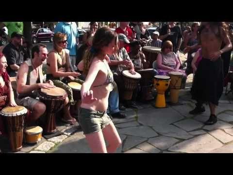 Nokomis Beach Drum Circle 2013 - Beautiful Hoop Girls - YouTube