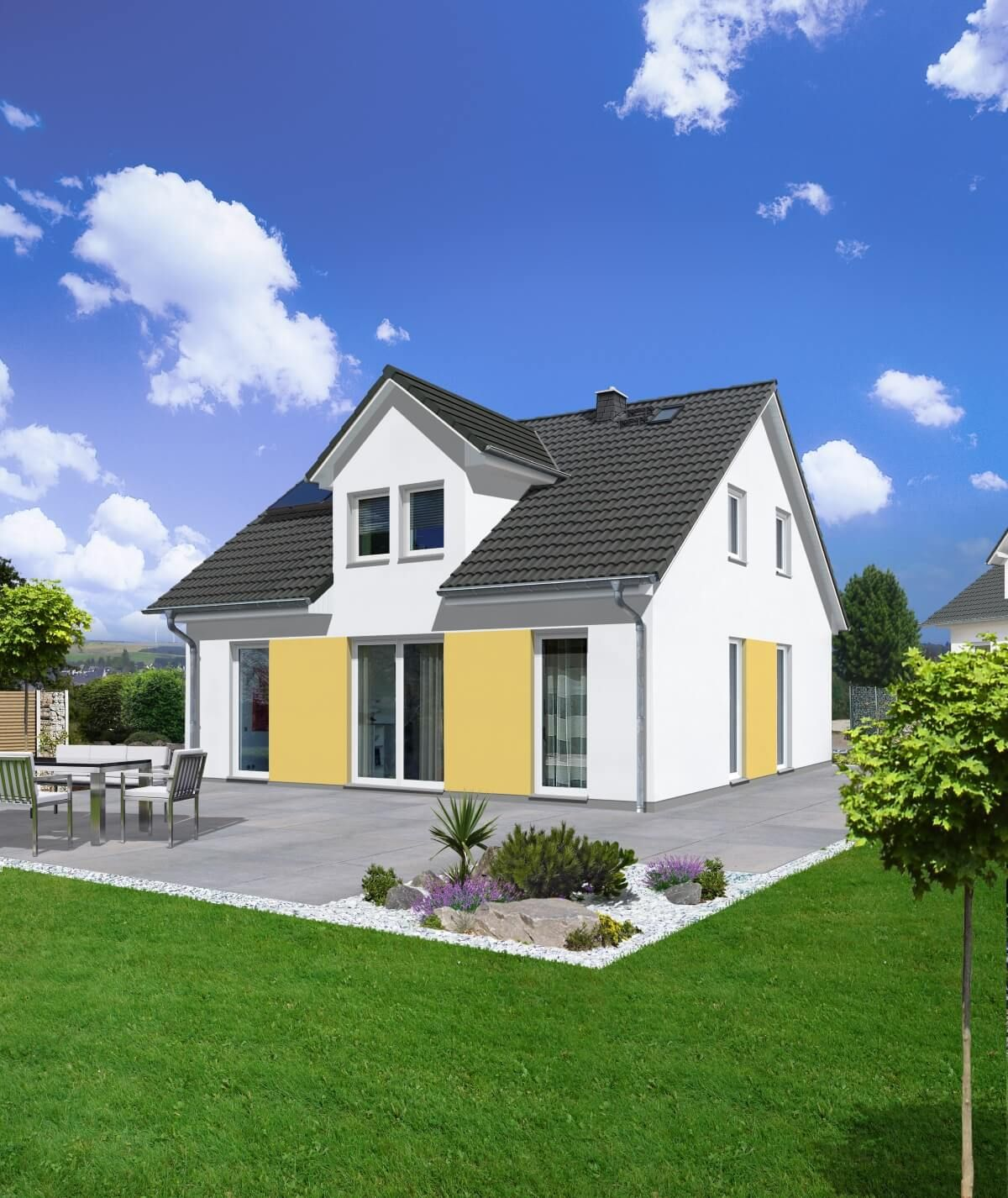 Einfamilienhaus Neubau mit Satteldach Architektur & Gaube