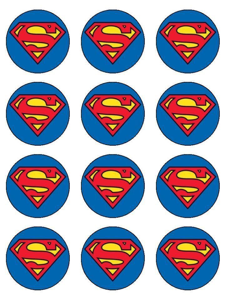 Superman toppers birthday cakes pinterest birthdays for Superman logo template for cake