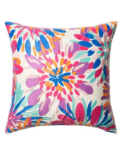 Pillow with Floral Applicade by Loloi Pillows