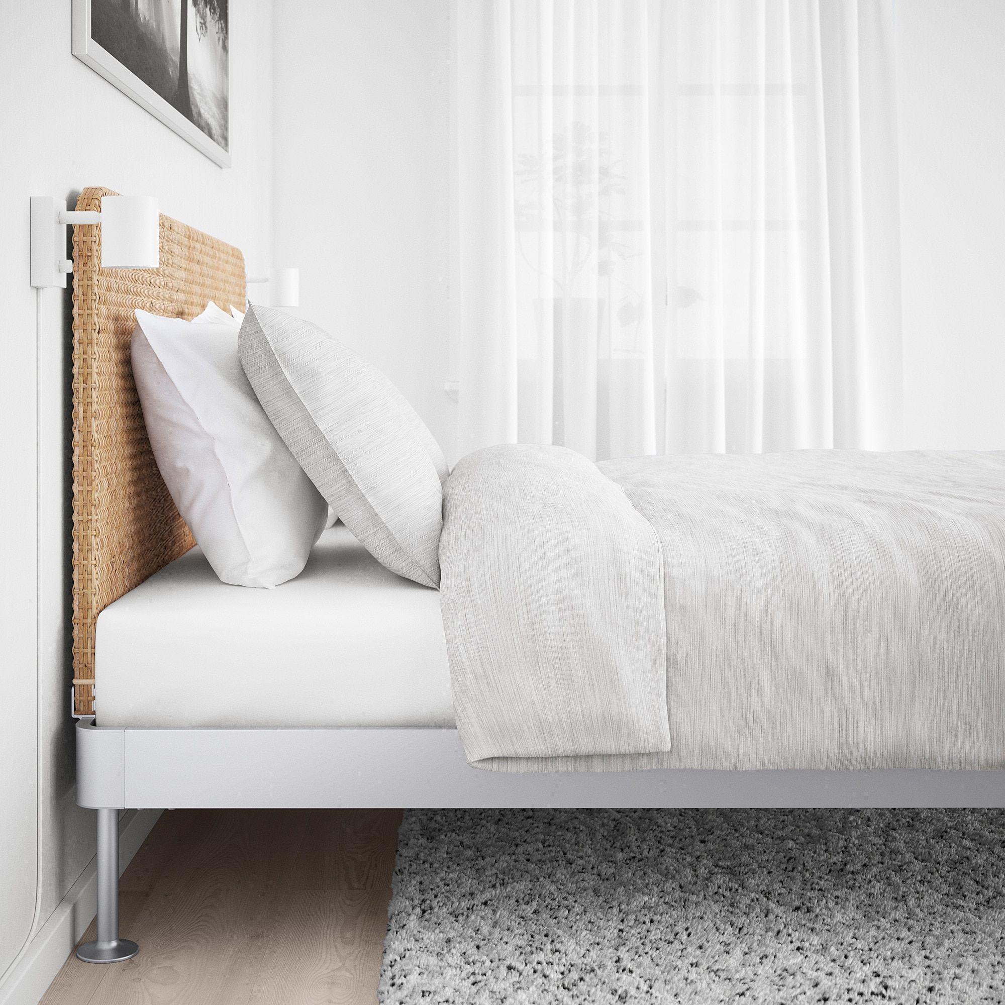 Ikea Delaktig Bed Frame With Headboard Aluminum Rattan