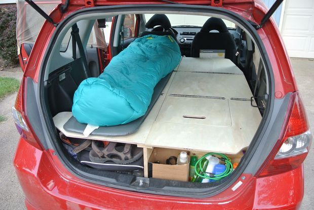 Ultimate Road Trip Car Conversion Honda Fit Camping
