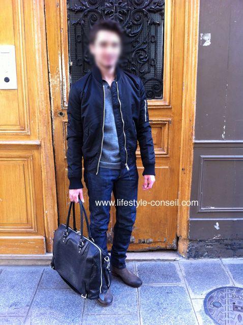 Relooking de Jeremy, avec un sac tout sauf féminin !