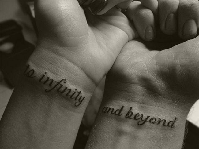 Small boyfriend and girlfriend wrist tattoo designs for Bf gf matching tattoos