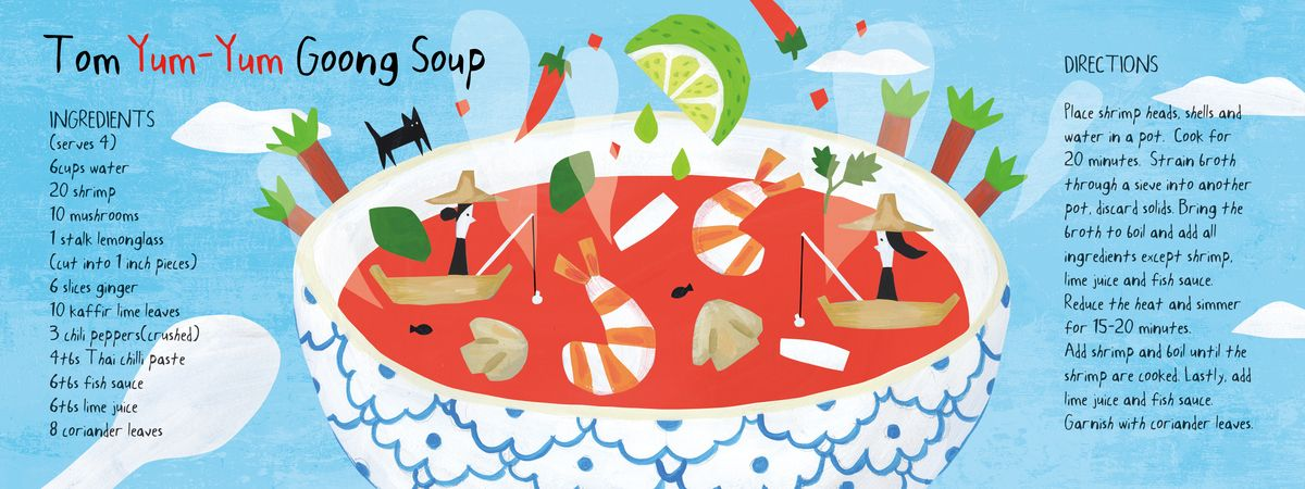 Tom Yum-Yum Goong Soup by AW Illustrations | In the Kitchen - Savory ...