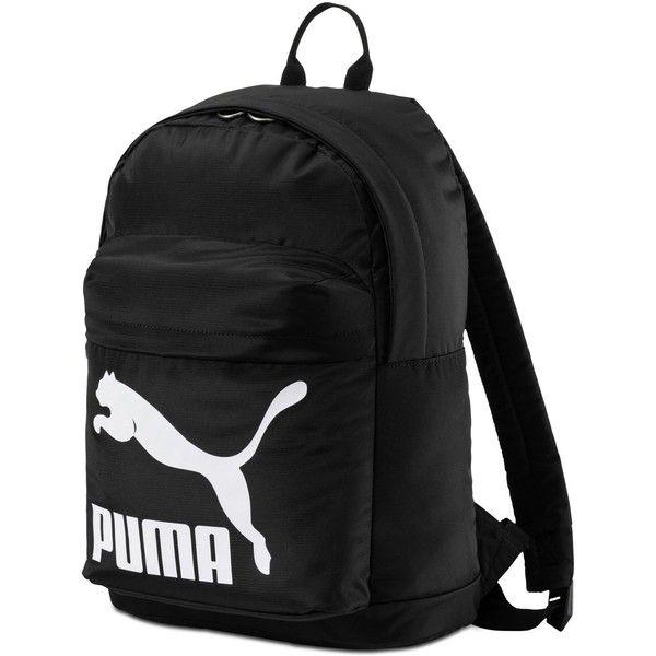 Puma Mainline Backpack ($25) ❤ liked on Polyvore featuring bags, backpacks, black, knapsack bag, strap bag, puma bags, daypack bag and puma rucksack