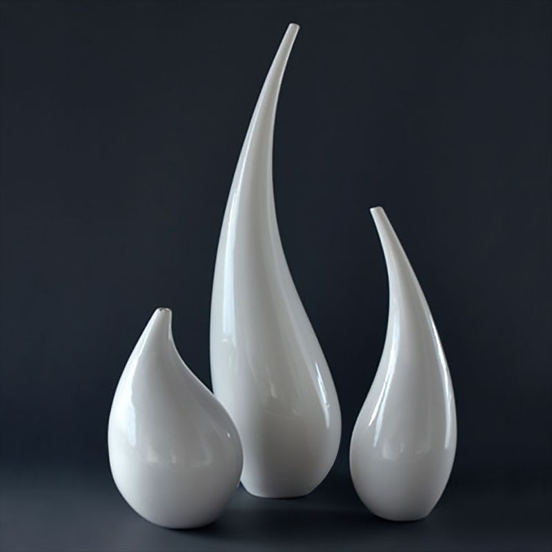 Large White Floor Vase Abstract Large Vase Set Decorative White