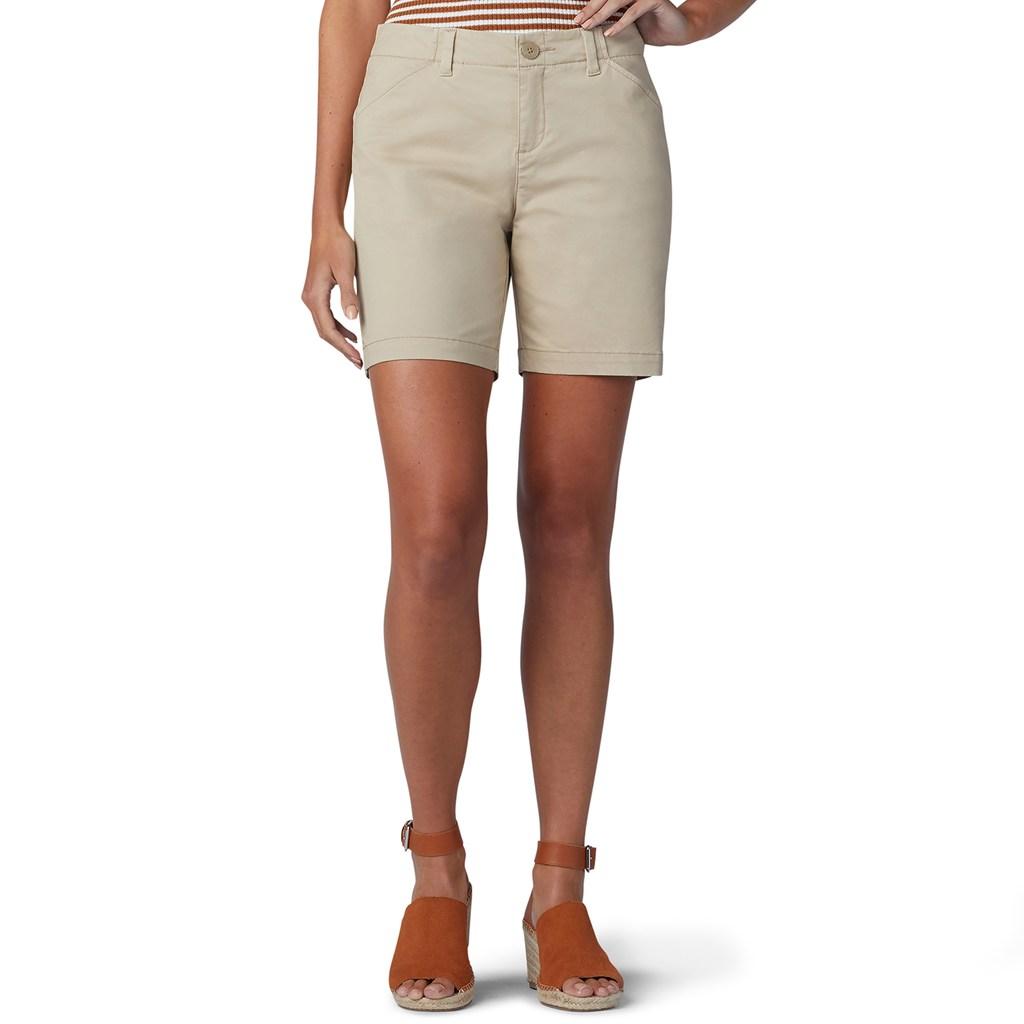 76efb603eff Plus Size Women s Lee Fit Chino Walk Shorts