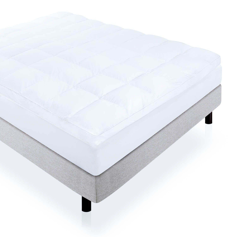 3 Inch Down Alternative Fiber Bed Mattress Topper By Linenspa
