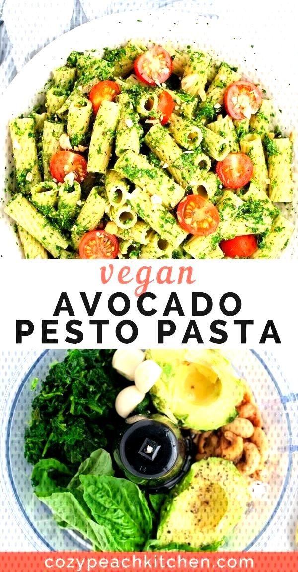 Vegan Avocado Pesto Pasta - Yummies -