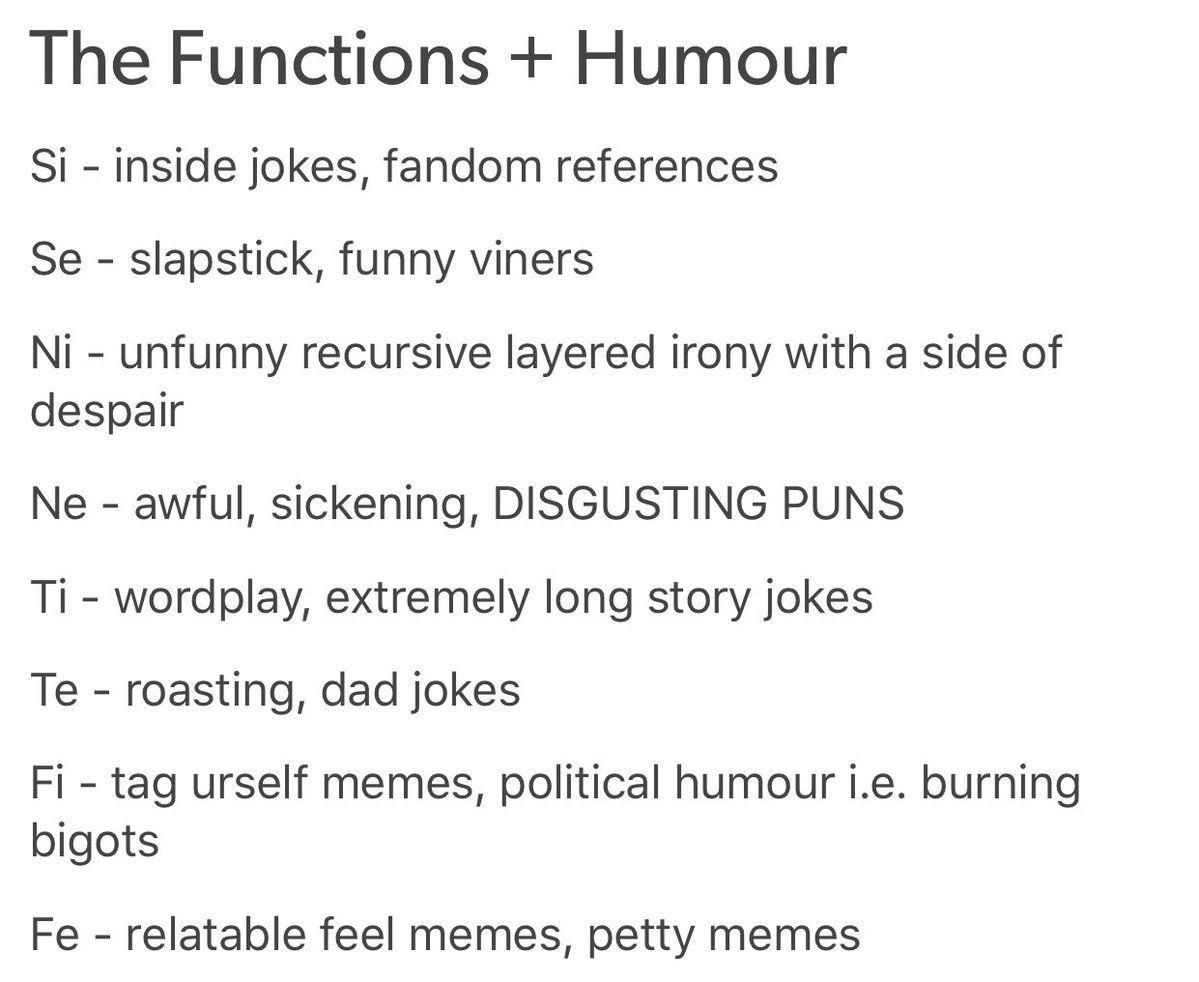 Mbti humor